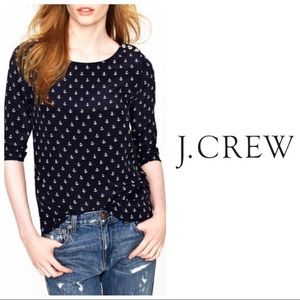 Silk J. Crew silk anchor top